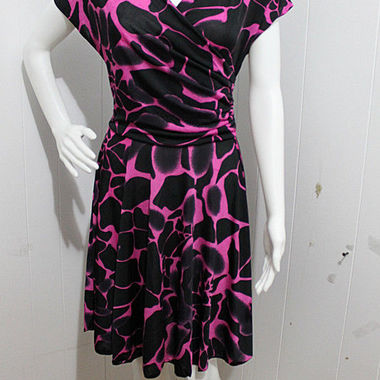 Gifts 4 All - Surplice Dress with Giraffe Print Your Choice of Color and Size