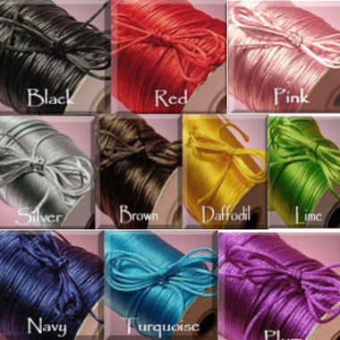 Gifts 4 All - 10 Yrds Satin Cord 2mm your Choice of Color
