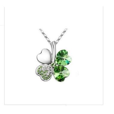 Gifts 4 All - Clover crystal pendant necklace