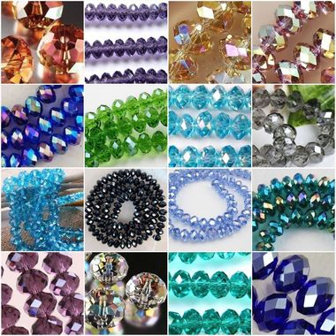 Gifts 4 All - 30pc Glass Crystal Beads - Your Choice of Color
