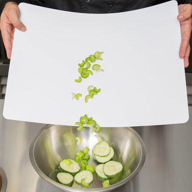 Gifts 4 All, Flexible cutting board is great for catering, restaurants, and off-site events. This mat set is easy to clean, dishwasher safe, disposable, lightweight, and flexible.