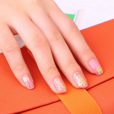 Gifts 4 All - Nail Sticker gold or silver tone