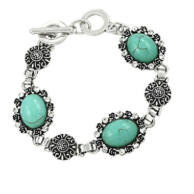 Gifts 4 All - Stone and Crystal Bracelet