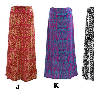 Gifts 4 All - Printed Long Skirt Your Choice of Color