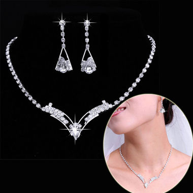 Gifts 4 All - Wedding Necklace and Earring Set
