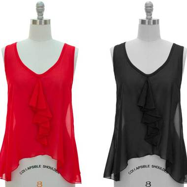 Gifts 4 All - Your Choice of Ruffle chiffon Top - Runs Large