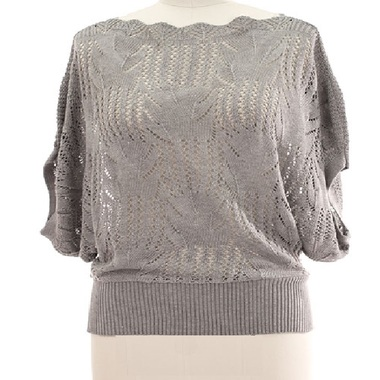 Gifts 4 All - Plus Size Spring Lace Sweater Your Choice of Color