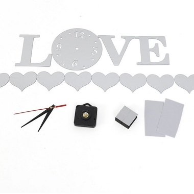 Gifts 4 All - Beautiful Wall Clock Love Sticker