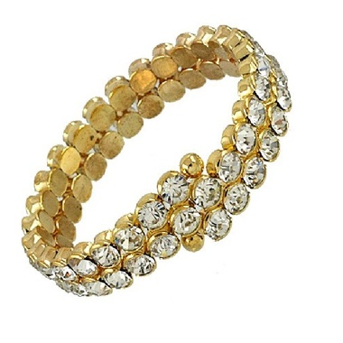 Gifts 4 All - Crystal Golden Bracelet