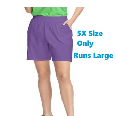 Gifts 4 All - Runs Large Plus size Woman Short in Purple Color Size 32W (5X)