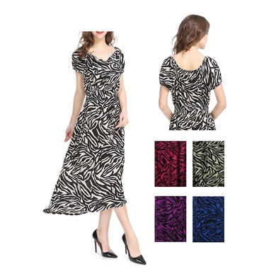 Gifts 4 All - Plus size Zebra Print Dress