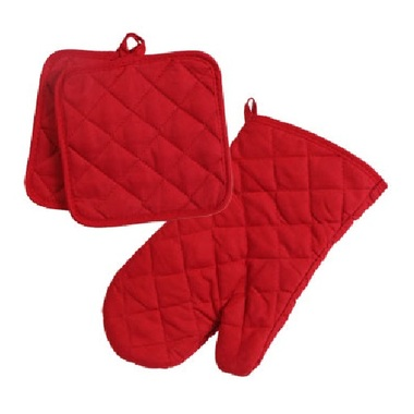 Gifts 4 All - 3PC Set Oven Mitt & 2 Pot Holders