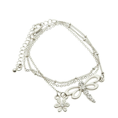 Gifts 4 All Beautiful Dragonfly Bracelet Silver or Golden