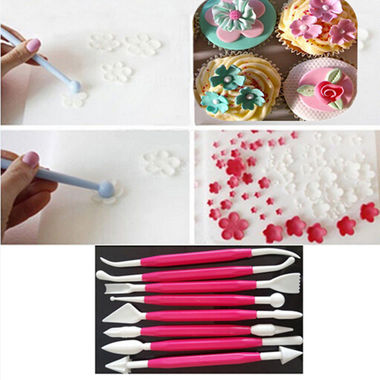 Gifts 4 All - 8pcs Modelling Tools Set Cake Decorating Baking Sugar Craft