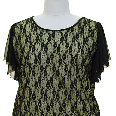 Gifts 4 All - Choose from 4 Colors Lace Top from 1x or 2X sizess