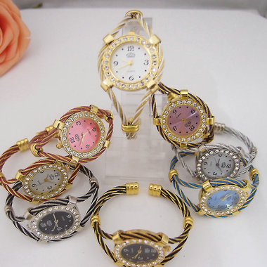 Gifts 4 All - Crystal Watch Bracelet Your choice of color