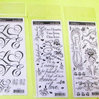 Gifts 4 All - Wedding Rub On Sticker - Will send Random