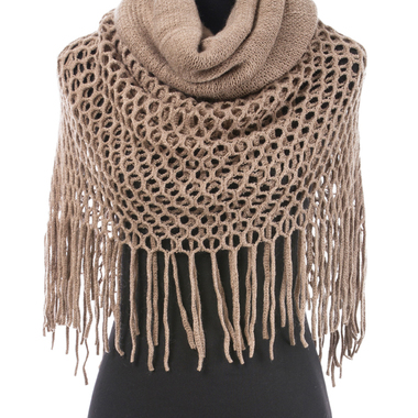 Gifts 4 All - Ladies Winter Scarf with lace border, Multipurpose