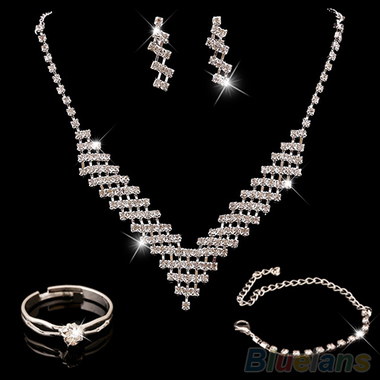Gifts 4 All - Crystal Necklace, Bracelet and Earring set