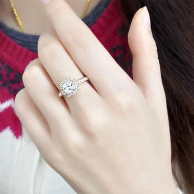 Gifts 4 All, Beautiful ring is made up of alloy metal, gold tone with a square crystal and surrounded by tiny crystals.