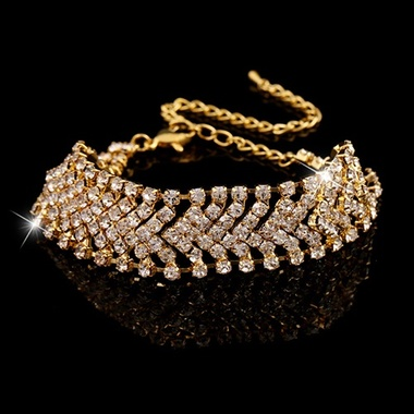 Gifts 4 All - Dazzling Silvertone Crystal Bracelet