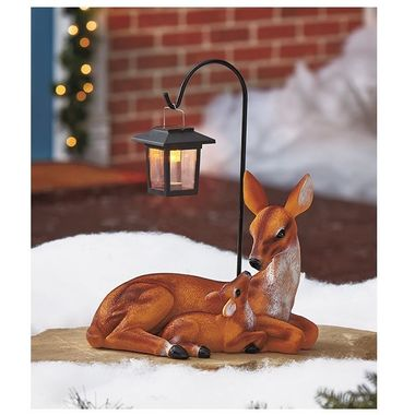 Gifts 4 All - Solar Light Patio Decor with Fawn and Momma