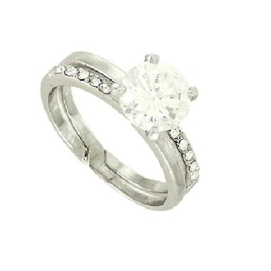Gifts 4 All, Wedding ring 2 Pieces. Cubic Zirconia Rings are Rhodium Plated. Beautiful Rings set.